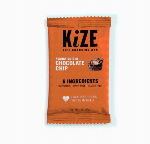 Kize Life Changing Bar Peanut Butter Chocolate Chip Energy Bars Perspective: back