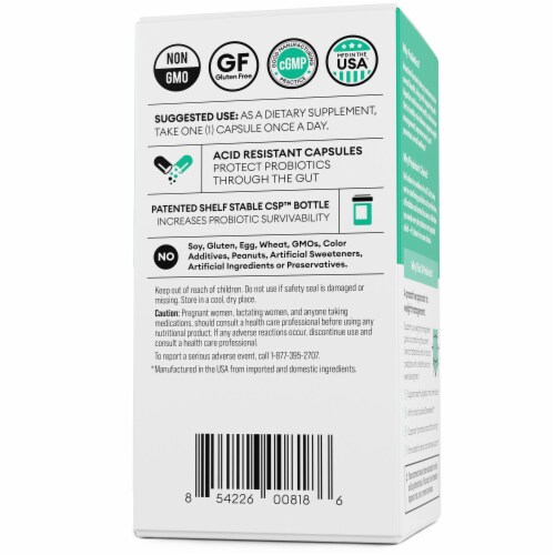 Physician's Choice Thin 30 Probiotic Dietary Supplement Perspective: back