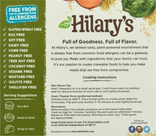 Hilary's Organic World's Best Veggie Burger Perspective: back
