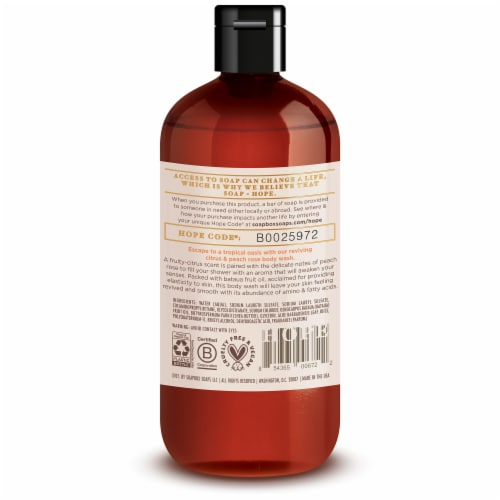 Soapbox Citrus & Peach Rose Body Wash Perspective: back