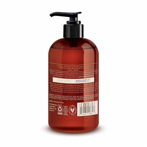 Soapbox Citrus & Peach Rose Hand Soap Perspective: back
