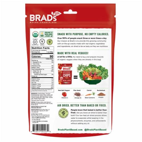 Brad's Red Bell Pepper Veggie Chips Perspective: back