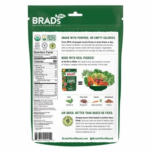 Brad's Kale Veggie Chips Perspective: back