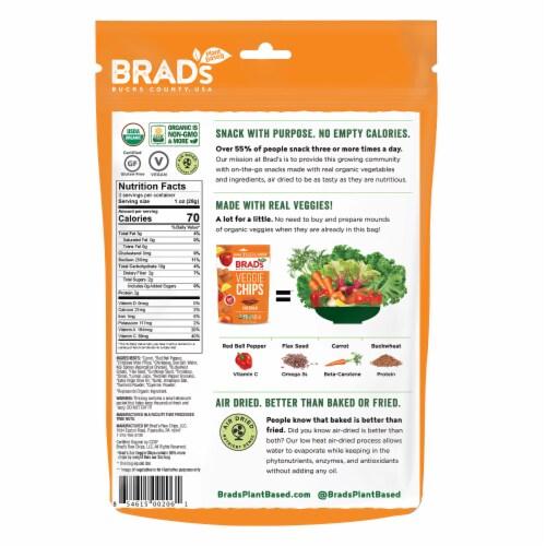 Brad's Cheddar Veggie Chips Perspective: back
