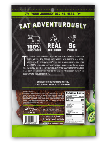 Country Archer Hatch Chile Beef Jerky Perspective: back