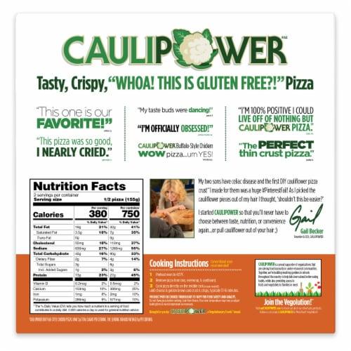 Caulipower Buffa-Whoa Cauliflower Crust Buffalo-Style Chicken Pizza Perspective: back