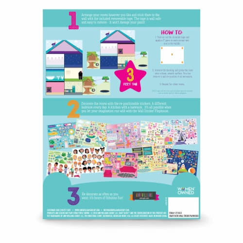 Craft-tastic Jr. Wall Sticker Playhouse Perspective: back