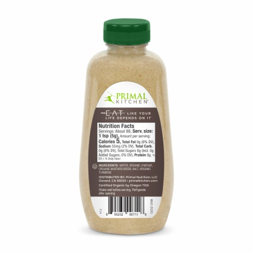 Primal Kitchen Organic Spicy Brown Mustard Perspective: back