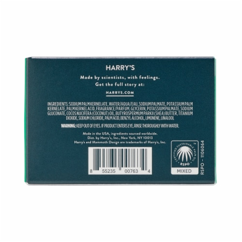 Harry's Shiso Bar Soap Perspective: back