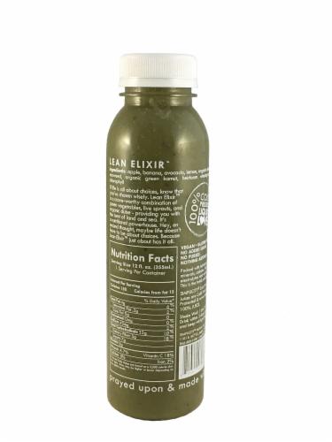 Simplicity Holistic Health Lean Elixir Cold Pressed Juice Perspective: back