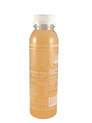 Simplicity Holistic Health Fat Burner Cold Pressed Juice Perspective: back