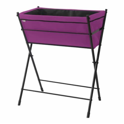 VegTrug Poppy Go! Raised Planter - Purple Perspective: back
