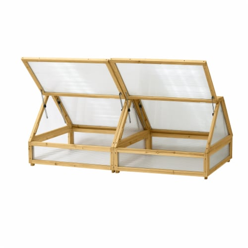VegTrug Cold Frame Greenhouse 1.8m Natural FSC100% Perspective: back