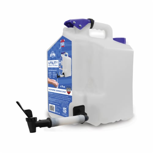SureCan SUR5SU1 Camping Portable Water Station 5 Gallon Utility Tank with Spigot Perspective: back