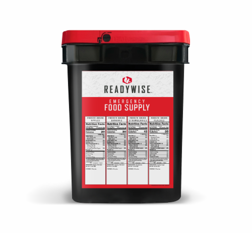 ReadyWise Freeze Dried Fruit Emergency Food Supply Perspective: back