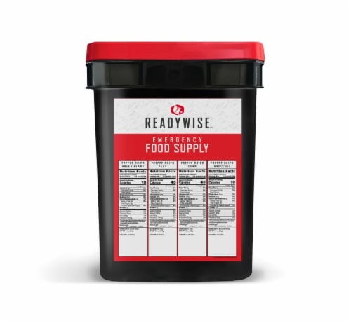ReadyWise Freeze Dried Vegetable Emergency Food Supply Perspective: back