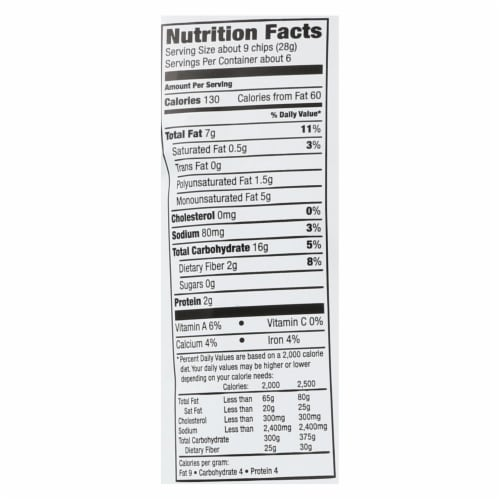 Way Better Snacks Tortilla Chips - Sweet Potato - Case of 12 - 5.5 oz. Perspective: back