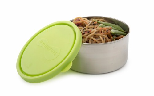 U-Konserve Round Large Stainless Steel Container - Lime Perspective: back