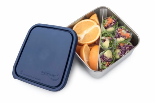 U-Konserve Divided To-Go Large Stainless Steel Container - Ocean Perspective: back