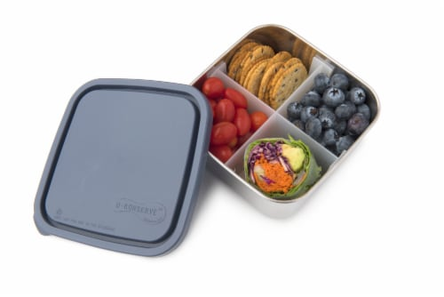 U-Konserve Divided To-Go Medium Stainless Steel Container - Ocean Perspective: back