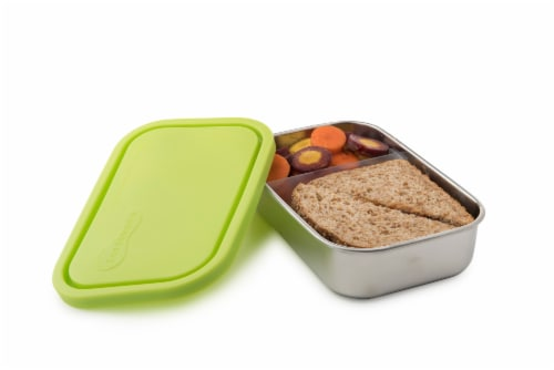 U-Konserve Divided Rectangle Stainless Steel Container - Lime Perspective: back