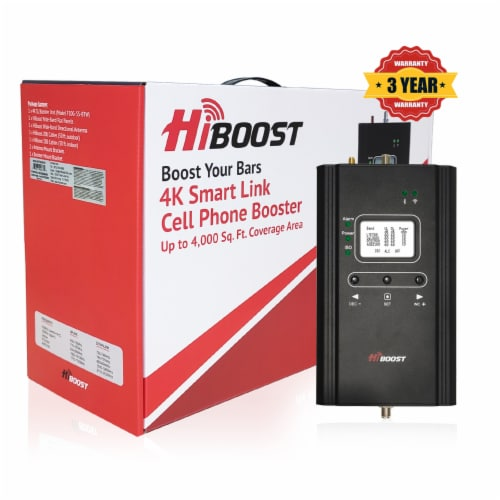 Hiboost F10G-5S-BTW 4K Smart Link 3G 4G LTE Wireless Cell Phone Signal Booster Perspective: back