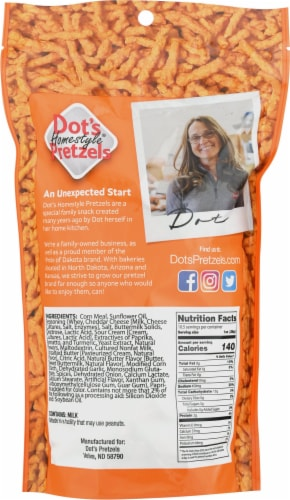 Dot's® Homestyle Snacks Baked Cheese Curls Perspective: back
