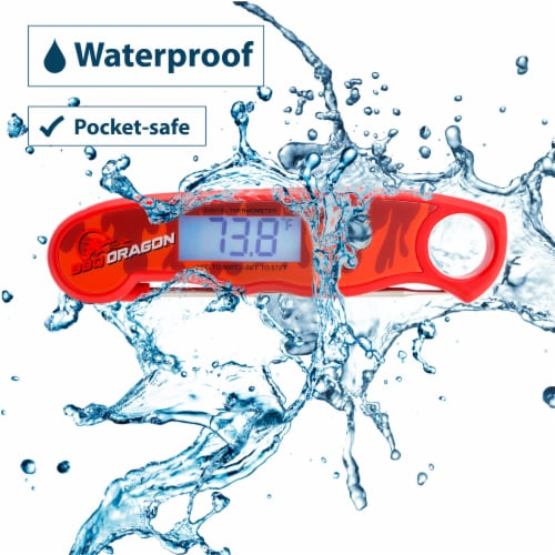 BBQ Dragon Instant-Read H2O Proof Food Thermometer Perspective: back