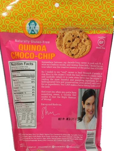 Goodie Girl Quinoa Choco-Chip Cookies Perspective: back