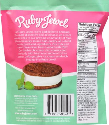 Ruby Jewel Dark Chocolate Cookie + Fresh Mint Ice Cream Sandwich Perspective: back