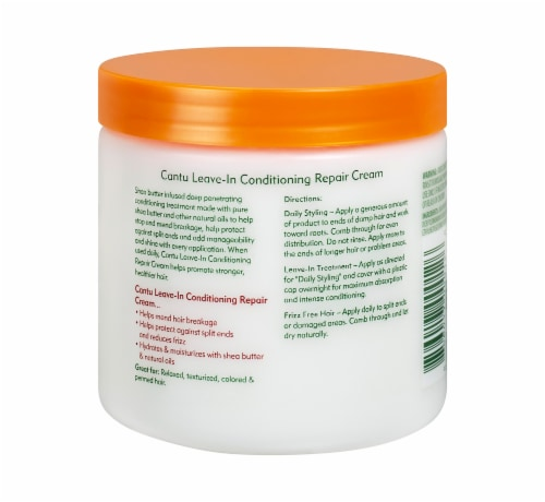 Cantu Shea Butter Leave-In Conditioning Repair Cream Perspective: back