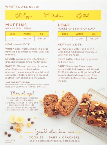 Simple Mills® Banana Muffin & Bread Almond Flour Mix Perspective: back