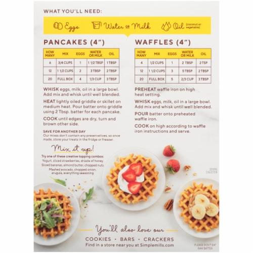 Simple Mills Gluten Free Original Almond Flour Pancake & Waffle Mix Perspective: back