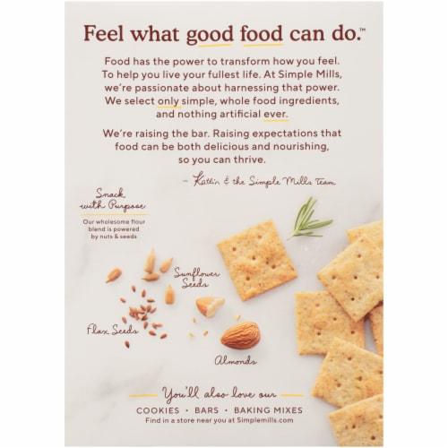 Simple Mills Organic Rosemary & Sea Salt Almond Flour Crackers Perspective: back