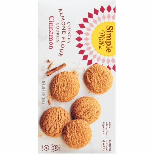 Simple Mills Crunchy Cinnamon Almond Flour Cookies Perspective: back