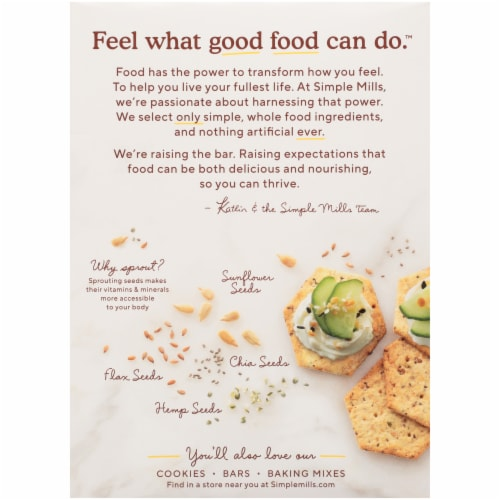 Simple Mills® Everything Sprouted Seed Crackers Perspective: back