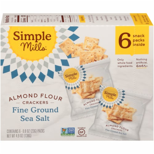Simple Mills® Gluten Free Fine Ground Sea Salt Almond Flour Crackers Perspective: back