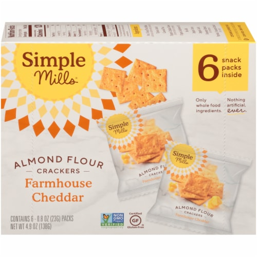 Simple Mills® Farmhouse Cheddar Almond Flour Crackers Perspective: back