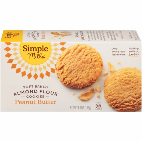 Simple Mills Soft Baked Peanut Butter Almond Flour Cookies Perspective: back