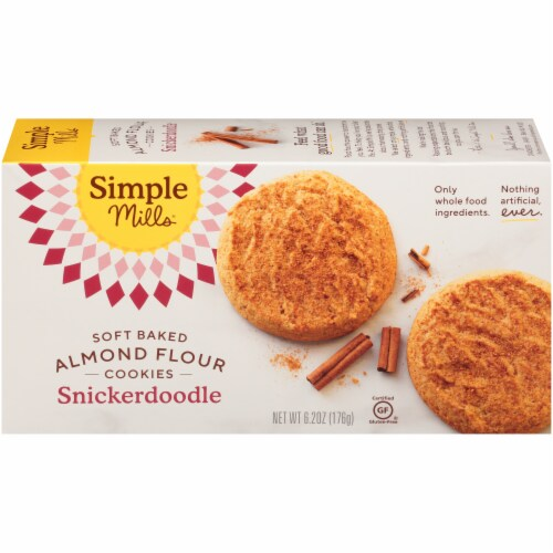 Simple Mills® Soft Baked Snickerdoodle Almond Flour Cookies Perspective: back