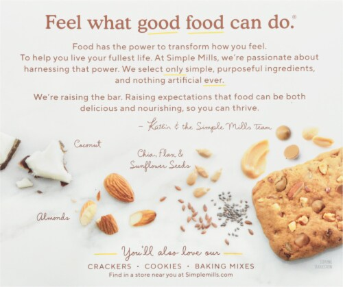 Simple Mills® Chunky Peanut Butter Almond Flour Bars Perspective: back