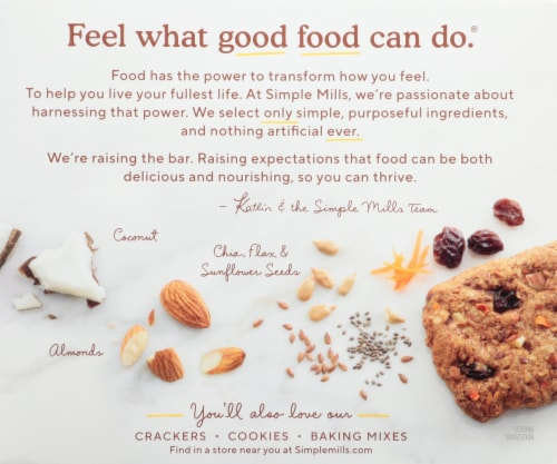 Simple Mills® Soft Baked Spiced Carrot Cake Almond Flour Bars Perspective: back