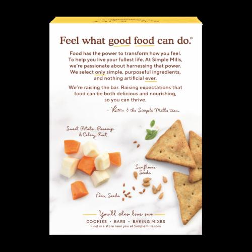 Simple Mills Mediterranean Herb Veggie Pita Crackers Perspective: back