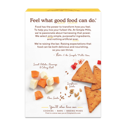 Simple Mills Roasted Red Pepper Veggie Pita Crackers Perspective: back