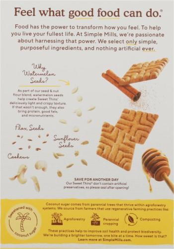 Simple Mills Honey Cinnamon Sweet Thins Perspective: back