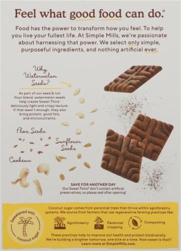 Simple Mills Chocolate Brownie Sweet Thins Perspective: back