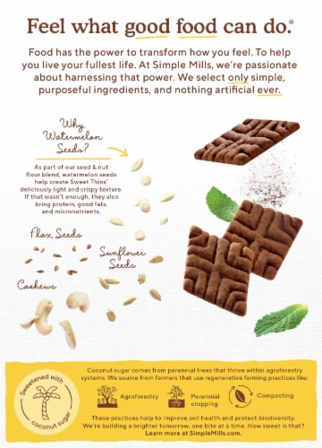 Simple Mills® Chocolate Mint Sweet Thins Perspective: back