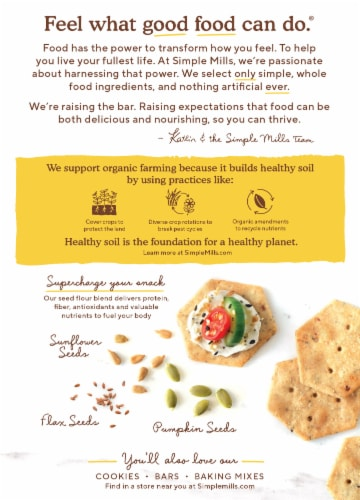 Simple Mills Organic Seed Flour Crackers - Everything Perspective: back
