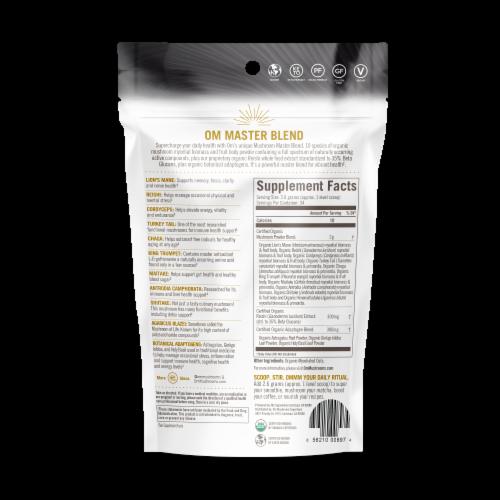 Om Mushroom Organic Master Blend Powder Perspective: back