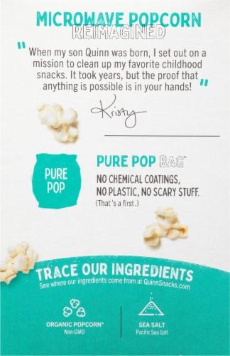 Quinn® Just Sea Salt Microwave Popcorn Perspective: back